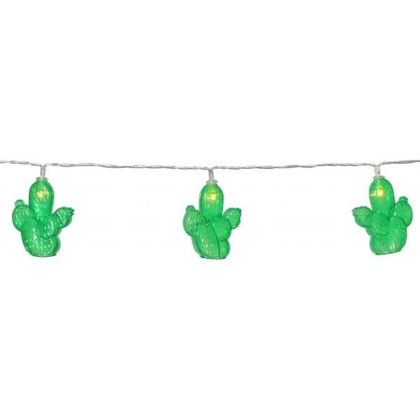 Гирлянда на батарейках FRUITY Кактусы, 1,85 м, зеленый