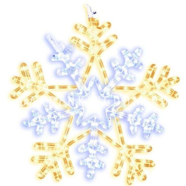 Подвес Снежинка SNOWFLAKE мигающая, 100 см, белый, желтый
