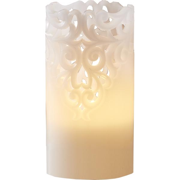 Свеча CLARY с кружевным узором, 15 см,  белый