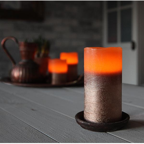 Свеча COPPER, 15 см, таймер, бронзовый воск