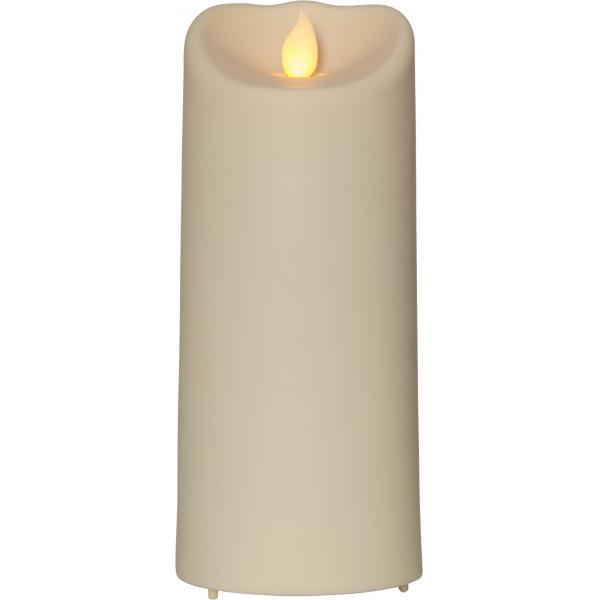 """Свеча пластиковая  M-TWINKLE с эффектом """"живого"""" пламени,  17,5 см, бежевый"""