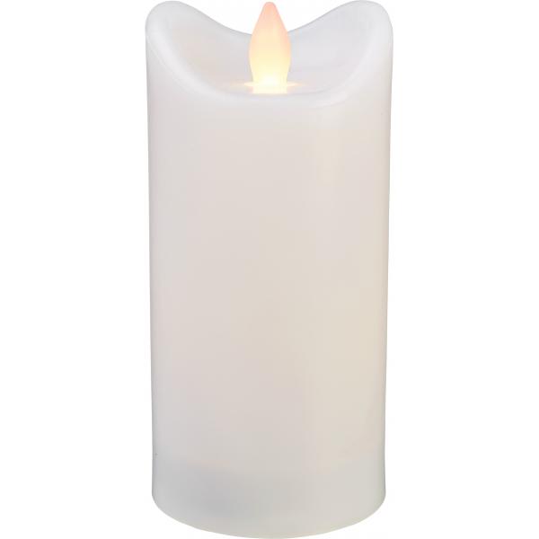 Свеча пластиковая  BIANCO с эффектом мерцающего пламени,  15 см, белая