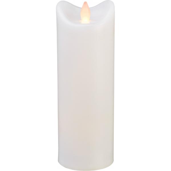 Свеча пластиковая  BIANCO с эффектом мерцающего пламени,  20 см, белая