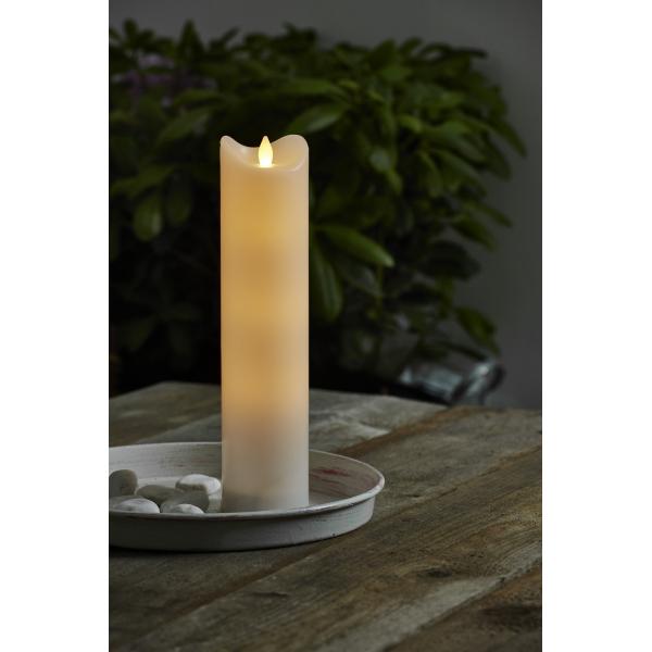 Свеча пластиковая  BIANCO с эффектом мерцающего пламени,  30 см, белая