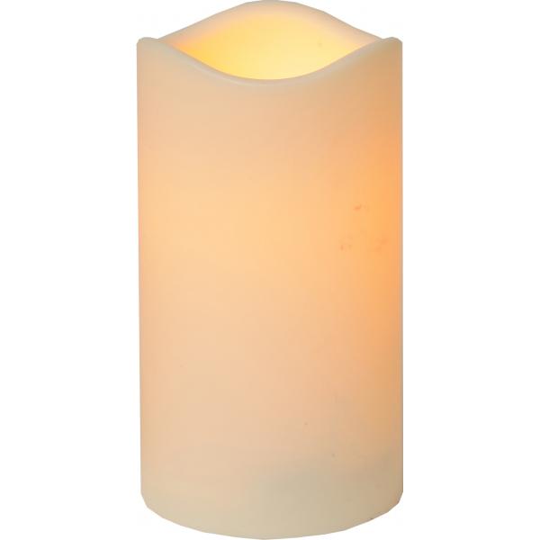 Свеча пластиковая,  15 см, бежевый