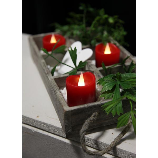 Комплект  свечей,  3 шт., красный воск