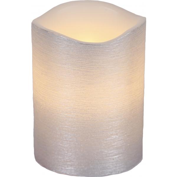 Свеча LINDA, 10 см, таймер, серебрянный воск