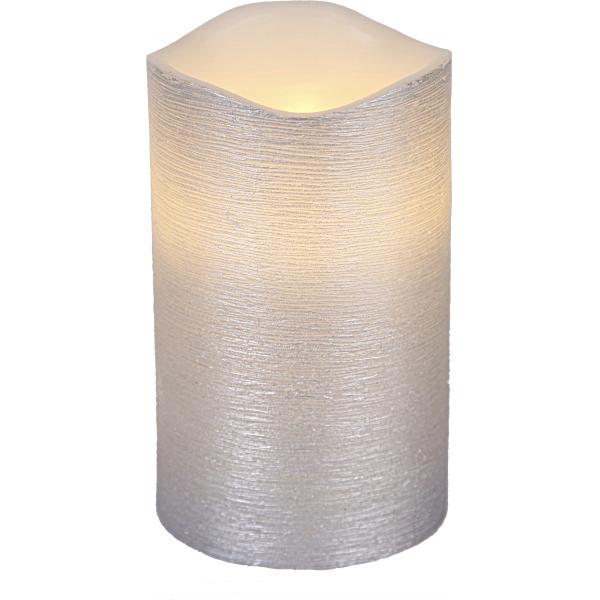 Свеча LINDA, 12,5 см, таймер, серебрянный воск