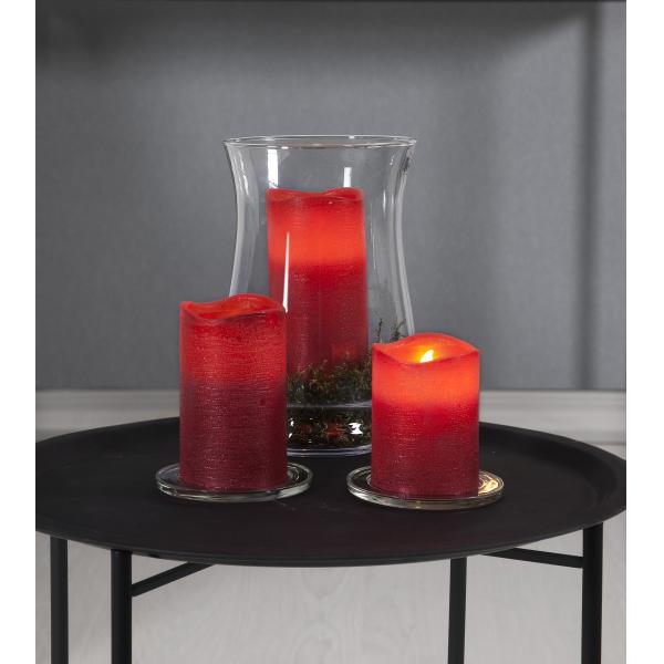 Свеча LINDA, 10 см, таймер, красный воск