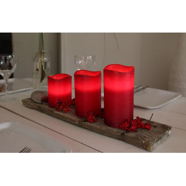 Свеча LINDA, 12,5 см, таймер, красный воск