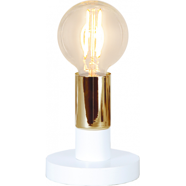 Светильник декоративный DUO BRASS, 12 см , Е 27, белый, золотой
