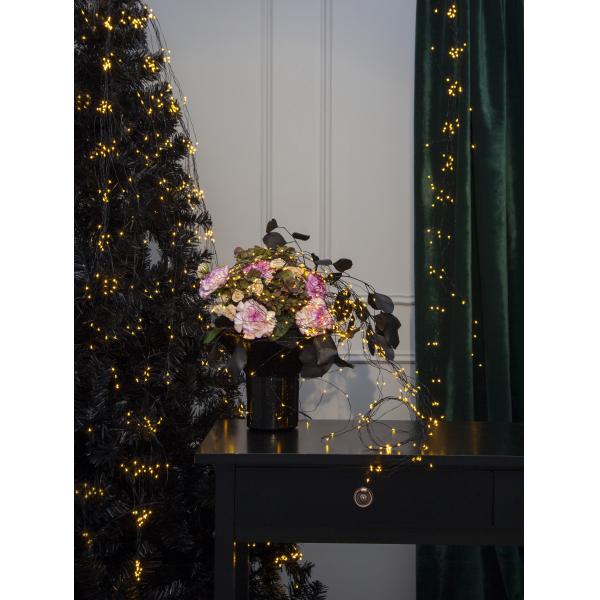 Гирлянда DEW DROP, 360 LED ламп, 6 шт х 90 см, 8 шт х 140 см, 9 шт х 190 см, теплый белый