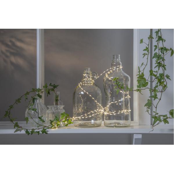 Гирлянда DEW DROP MOLD, 150 LED ламп, длина 2,25 м, теплый  белый,  серебряный провод