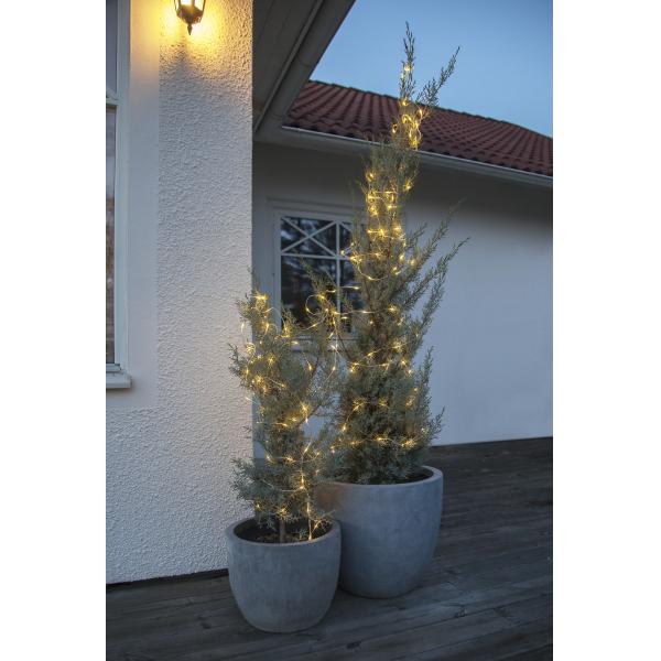 Гирлянда для улицы DEW DROPS, 100 LED ламп, 10 м, теплый белый, серебрянный провод