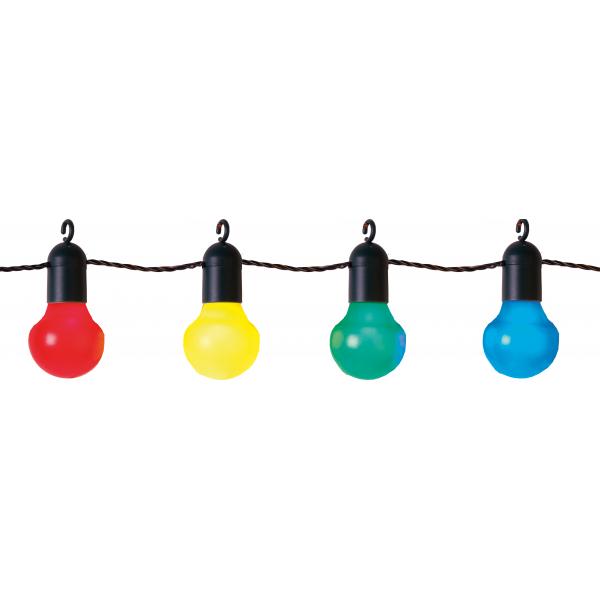 Гирлянда для улицы PARTY, с крючками, 20 ламп, разноцветная