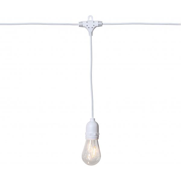 Гирлянда для улицы STRING LIGHT, 10 ламп, длина 3,6 м, белый провод, прозрачный, теплый белый