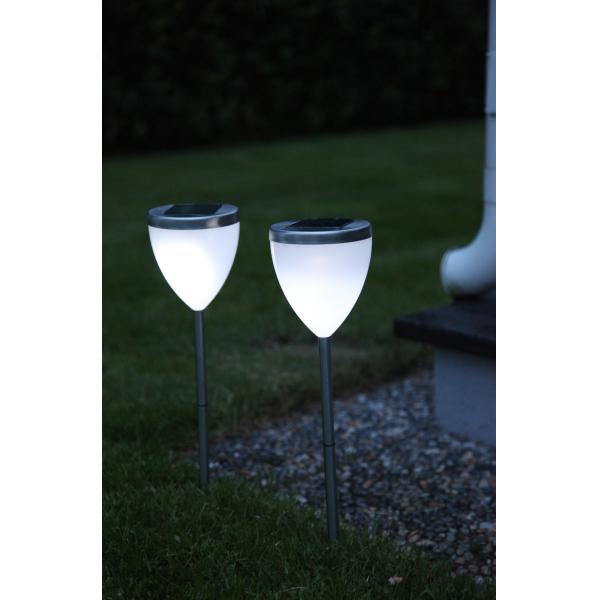 Садовые светильники VIGO Solar energy, 2 штуки, диаметр 10 см, высота 34 см