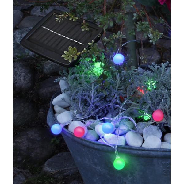 Гирлянда садовых светильников GLOBINI Solar energy, 6,75 м, разноцветный