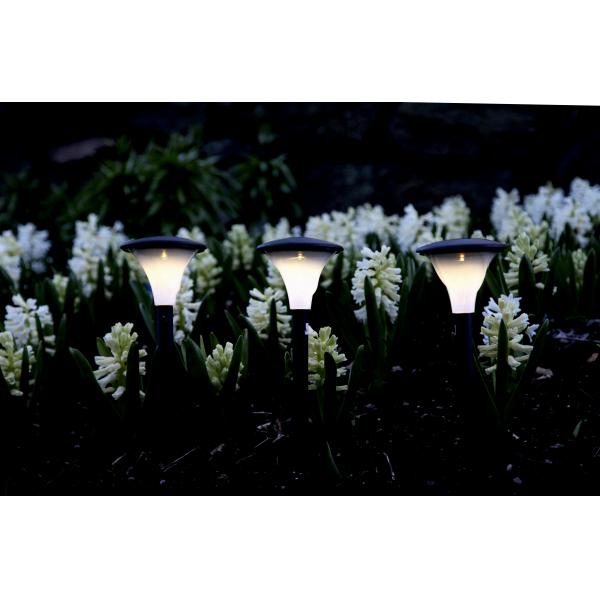 Садовые светильники на солнечных батареях FARO Solar energy, 3 штуки, диаметр 11 см, высота 26 см