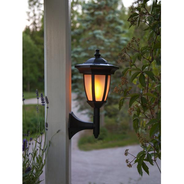 """Садовый светильник FLAME Solar energy, с эффектом живого пламени """"четыре в одном"""", 63 см, черный"""