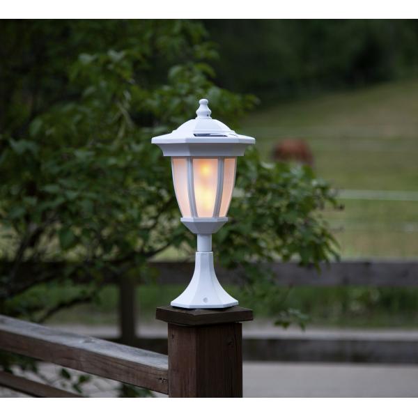"""Садовый светильник FLAME Solar energy, с эффектом живого пламени """"четыре в одном"""", 63 см, белый"""