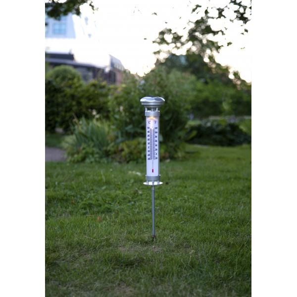 Садовый светильник CELSIUS Solar energy, термометр с подсветкой, 57,5 см
