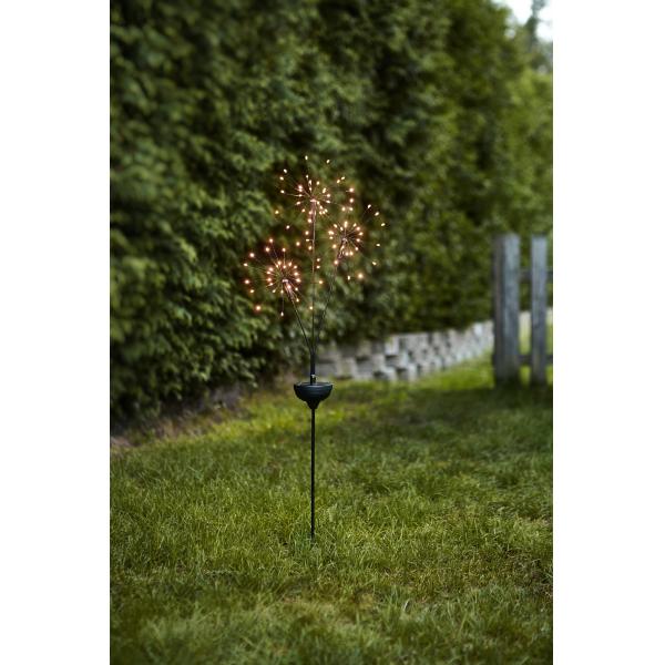 Садовый светильник FIREWORK Solar energy, 95 см, теплый белый