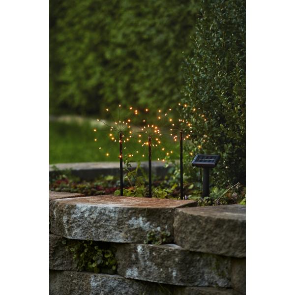 Садовый светильник FIREWORK Solar energy, 40 см, теплый белый