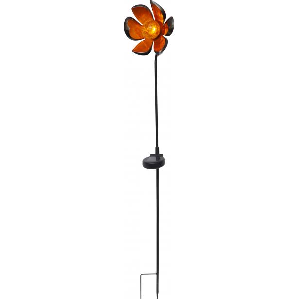 Садовый светильник MELILLA Solar energy, 84 см, янтарный