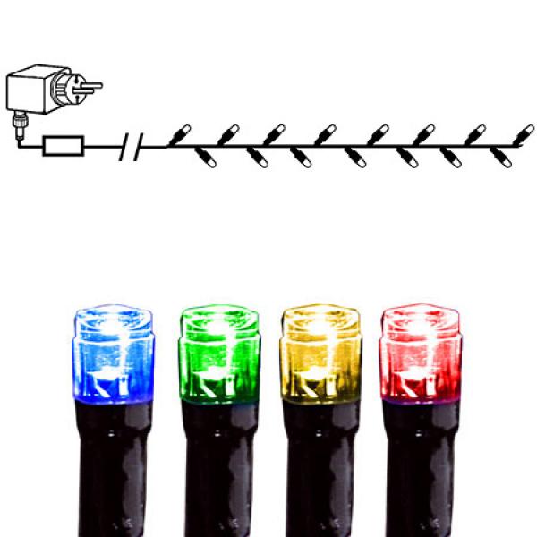 Гирлянда для улицы, 240 ламп, 8 режимов мигания, разноцветный, черный провод, серия SERIE LED
