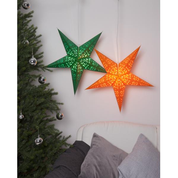 Звезда-подвес FINE, 60 см, оранжевый