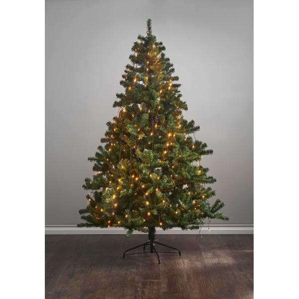Гирлянда для елки TREE LIGHT, 8 нитей по 2 м, 360 ламп, золотистый теплый белый, черный провод