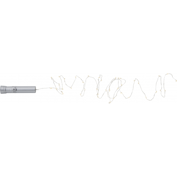 Гирлянда TUBE DEW DROP, на батарейках, 40 LED ламп, теплый белый