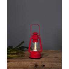 Фонарь в форме керосиновой лампы NIKO на батарейках, 15 см, красный