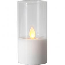 Свеча M-TWINKLE в стакане, 10 см, прозрачный, белый