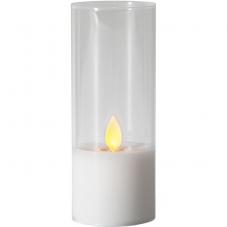 Свеча M-TWINKLE в стакане, 12,5 см, прозрачный, белый