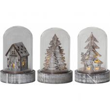 Комплект светильников рождественских KUPOL на батарейках, 8,5 см, 3 штуки, коричневый