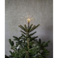 Звезда - макушка FIREWORK , 27 см, теплый белый