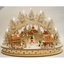 Светильник рождественский ВЕСЁЛАЯ ИГРА, 30 см, светлое дерево
