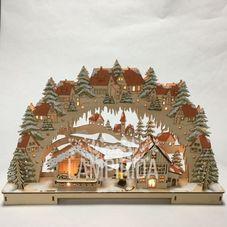 Светильник рождественский НОВОГОДНИЙ ПОДАРОК, 29 см, светлое дерево