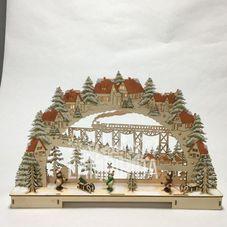 Светильник рождественский ПОЛЯРНЫЙ ЭКСПРЕСС, 29 см, светлое дерево