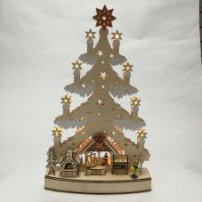 Светильник рождественский АРОМАТНАЯ ЕЛКА, 44 см, светлое дерево