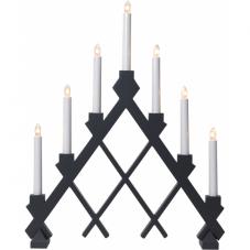 Горка рождественская RUT, 7 свечей, 53 см, черный