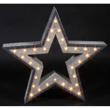 Светильник декоративный ЗВЕЗДА, 52 см, серый, металл