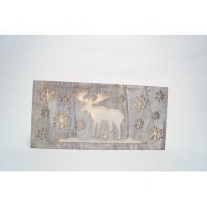 Светильник рождественский ЛОСЬ, 18 см, серый