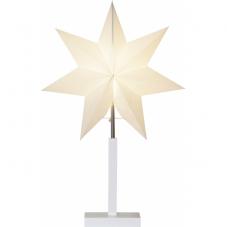 Звезда на подставке KARO, высота 52 см, диаметр 34 см, белый