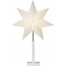 Звезда на подставке KARO, высота 68 см, диаметр 43 см, белый