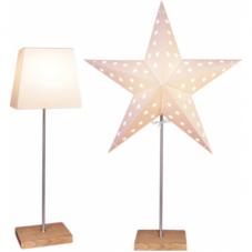 Светильник - звезда со сменным абажуром LEO COMBIPACK, высота 65 см, белый, дерево, сталь