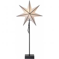 Звезда на подставке ASTRO, высота 74 см, диаметр 35 см, на батарейках, белый, черный