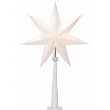 Звезда на подставке PAINT SNOW, 80 см, белая